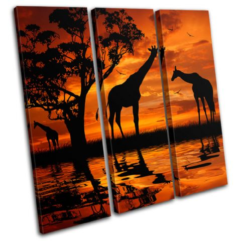 Giraffe African Sunset Animals - 13-1790(00B)-TR11-LO